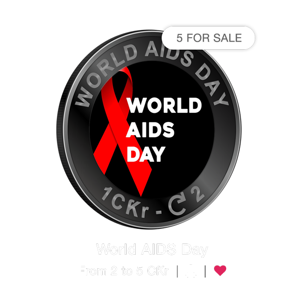 Wherever displayed in Crypto.Ƙred, a ribbon icon indicates the status of a Charity Coin